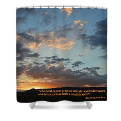 Shower Curtain featuring the photograph Psalm 34 Eighteen by Glenn McCarthy