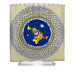 Psalm 37 Flat Earth Shower Curtain