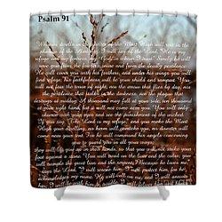 Psalm 91 Shower Curtain