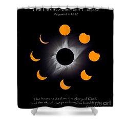 Psalm Nineteen Solar Eclipse Shower Curtain