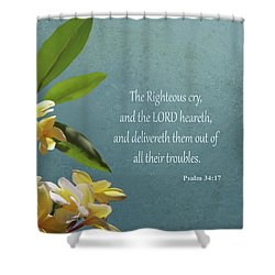 Psalms 01 Shower Curtain