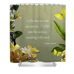 Psalms 02 Shower Curtain