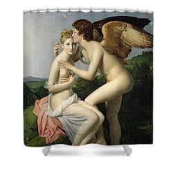 Psyche Receiving The First Kiss Of Cupid Shower Curtain by Gerard