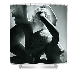 Psyche Revived By The Kiss Of Cupid Shower Curtain by Antonio Canova