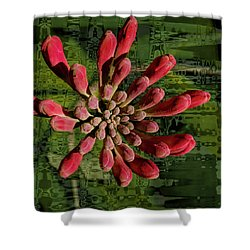 Shower Curtain featuring the photograph Psychedelic Bud by Jean Noren