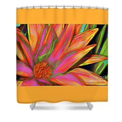 Shower Curtain featuring the photograph Psychedelic Daisy By Kaye Menner by Kaye Menner