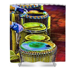 Psychedelic Drums Shower Curtain