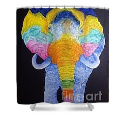 Psychedelic Elephant  Shower Curtain