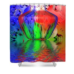Shower Curtain featuring the photograph Psychedelic Flight by Joyce Dickens