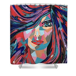 Psychedelic Jane - Contemporary Woman Art Shower Curtain