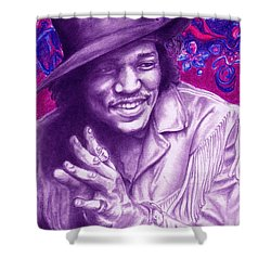 Psychedelic Jimi Shower Curtain