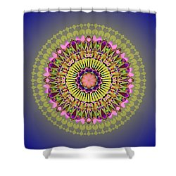 Psychedelic Mandala 001 A Shower Curtain