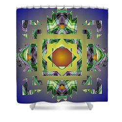 Psychedelic Mandala 002 A Shower Curtain by Larry Capra