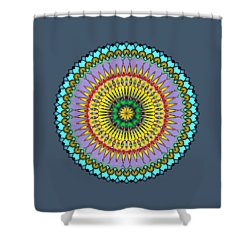 Psychedelic Mandala 005 A Shower Curtain