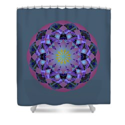 Psychedelic Mandala 006 A Shower Curtain by Larry Capra
