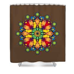 Psychedelic Mandala 009 A Shower Curtain