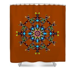 Psychedelic Mandala 010 A Shower Curtain by Larry Capra