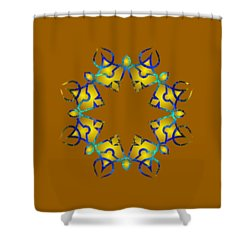 Psychedelic Mandala 011 A Shower Curtain by Larry Capra