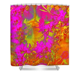Psychedelic Spring Azaleas Shower Curtain