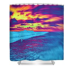 Psychedelic Sunset Shower Curtain