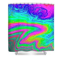 Shower Curtain featuring the photograph Psychedelic Swirl by Jean Noren