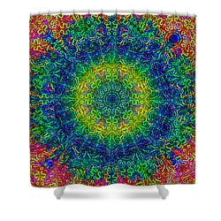 Psychedelicize Shower Curtain by Bill Cannon