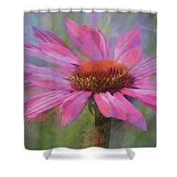 Shower Curtain featuring the digital art Psychodelia by Nicole Wilde