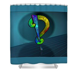 Psychedelic Interrobang Shower Curtain