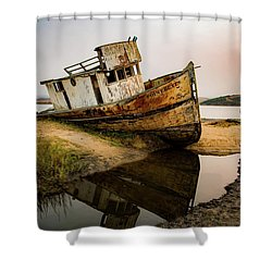 Pt. Reyes Shipwreck 1 Shower Curtain