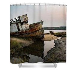 Pt. Reyes Shipwreck 4 Shower Curtain