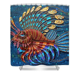 Pterois Shower Curtain