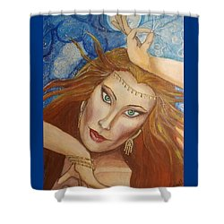 Ptraci Dancing On The Disc Shower Curtain