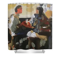 Pub Talk Shower Curtain