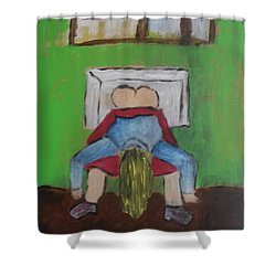 Puberty Shower Curtain