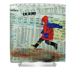 Puddle Jumping Shower Curtain