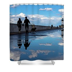 Puddle-licious Shower Curtain by Mary Amerman