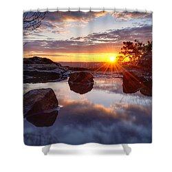 Puddle Paradise Shower Curtain