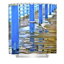 Shower Curtain featuring the photograph Puddles by Diana Angstadt