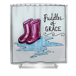 Puddles Of Grace Shower Curtain by Elizabeth Robinette Tyndall