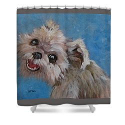 Pudgy Smiles Shower Curtain
