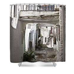 Shower Curtain featuring the photograph Puebla Blanca Capileira by Heiko Koehrer-Wagner