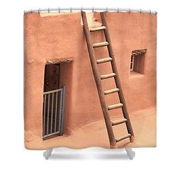 Pueblo Shower Curtain by John Bushnell