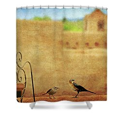 Shower Curtain featuring the photograph Pueblo Village Settlers by Diana Angstadt
