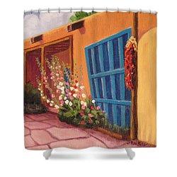 Puerta Azul En Taos Shower Curtain