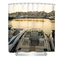 Puerto Banus Shower Curtain by Perry Van Munster