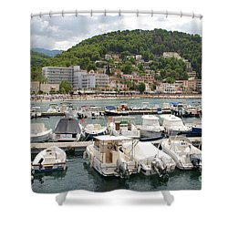 Puerto De Soller In Majorca Shower Curtain
