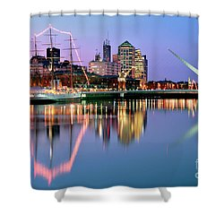 Puerto Madero I Shower Curtain by Bernardo Galmarini