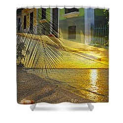 Puerto Rico Collage 3 Shower Curtain by Stephen Anderson