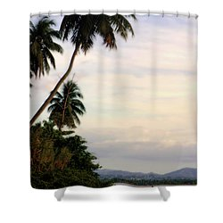 Puerto Rico Palms Shower Curtain by Madeline Ellis