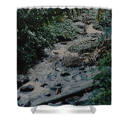 Puerto Rico Water Shower Curtain by Rob Hans